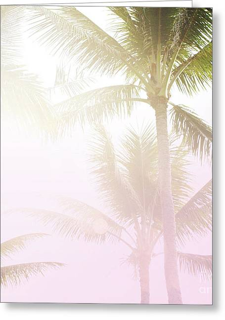 Greeting Card featuring the photograph Pink Palms by Cindy Garber Iverson