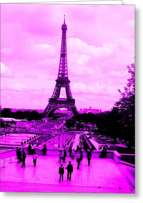 Pink Paris Greeting Card