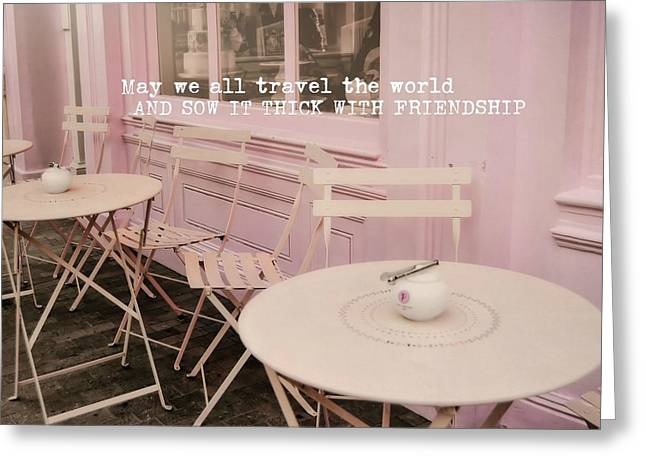 Pink Party Cakes Quote Greeting Card by JAMART Photography
