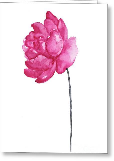 Pink Peony, Nursery Room Print, Baby Girl Kids Room Decoration,  Greeting Card