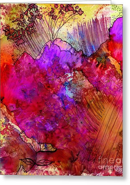 Pink Petals II Greeting Card by Angela L Walker