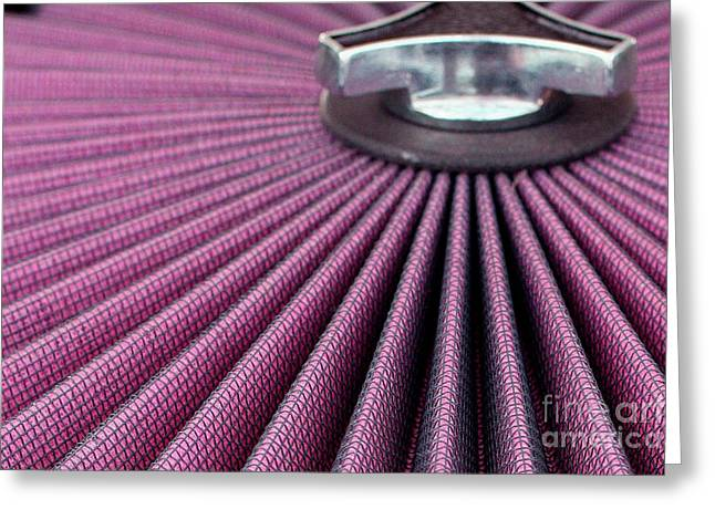 Replacing Greeting Cards - Pink pleats with a twist Greeting Card by Alan Look