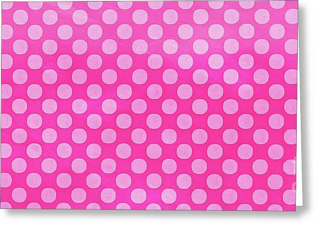 Pink Polka Dots Pattern Mug Greeting Card