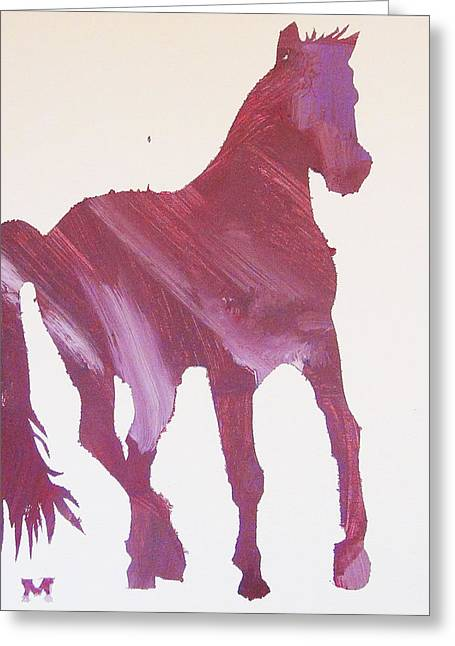 Pink Pony Greeting Card