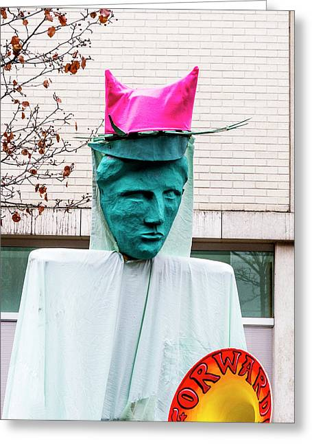 Pink Pussy Hat - Women's March, Madison, Wisconsin Greeting Card