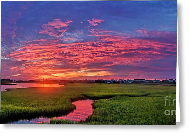 Greeting Card featuring the photograph Pink River by DJA Images