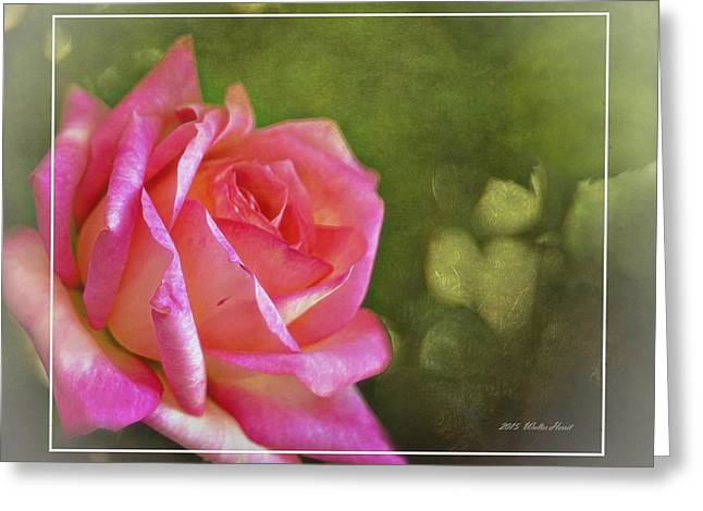 Pink Rose Dream Digital Art 3 Greeting Card