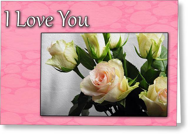 Pink Rose For Valentine Greeting Card