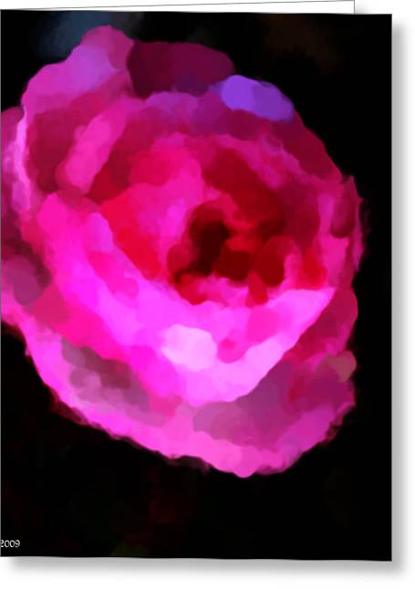 Pink Rose Impresion  Greeting Card by Michelle  BarlondSmith