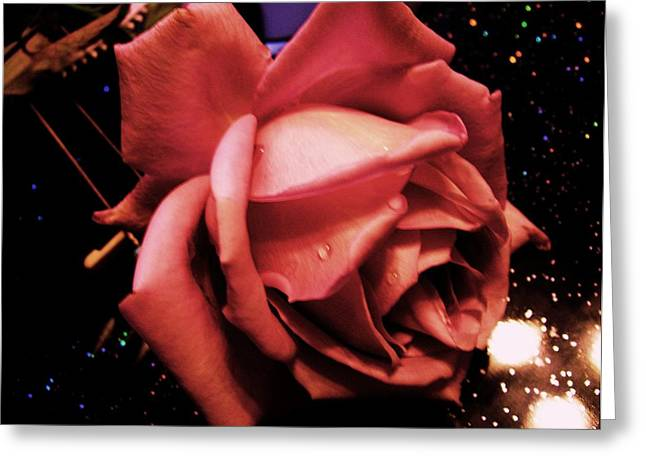 Pink Rose Greeting Card by Nereida Slesarchik Cedeno Wilcoxon