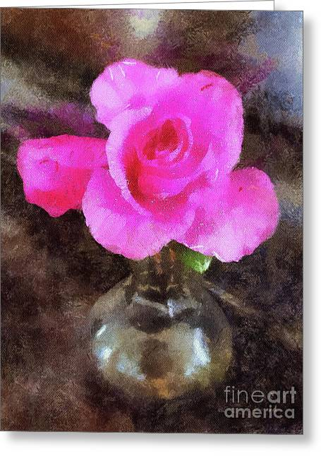 Pink Rozalea Greeting Card