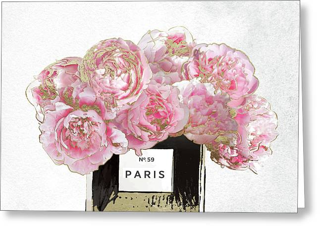 Pink Scented Greeting Card by Mindy Sommers