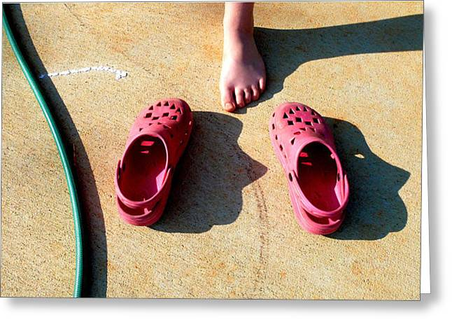 Pink Shoes Greeting Card by Don Whipple