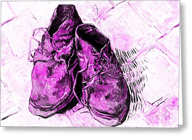 Pink Shoes Greeting Card by John Stephens
