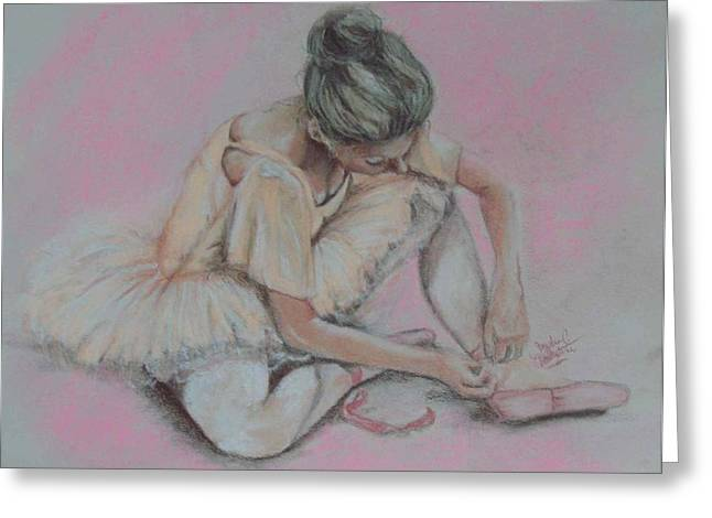 Pink Shoes Greeting Card by Sandra Valentini