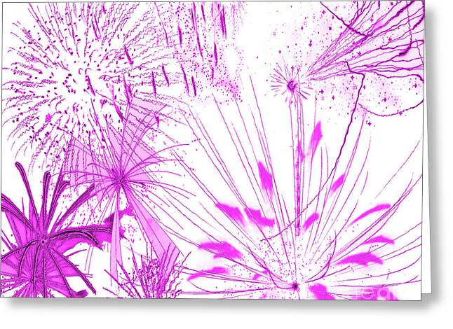 Greeting Card featuring the digital art Pink Splash Watercolor by Methune Hively