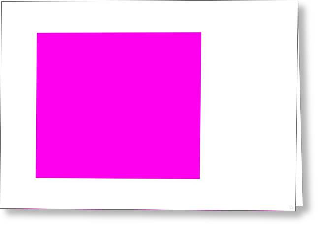 Pink Square Greeting Card