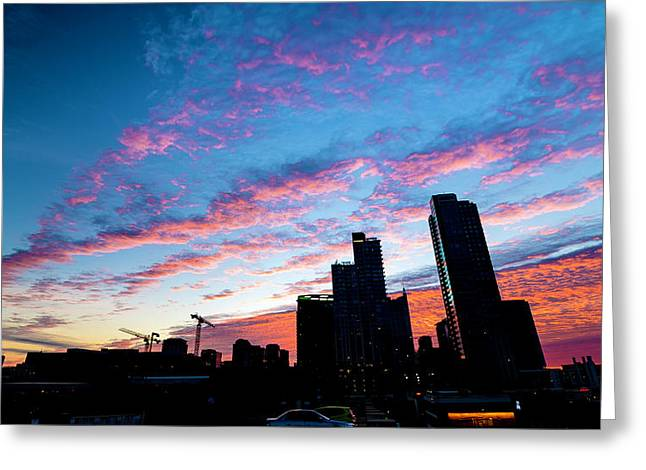 Pink Sunrise Greeting Card