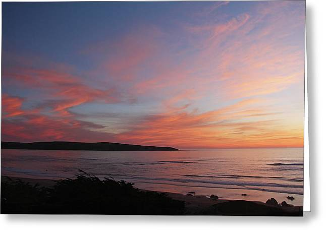 Pink Sunset Greeting Card by Sierra Vance