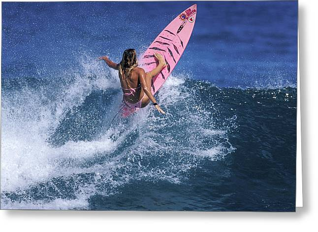 Pink Surfer. Greeting Card