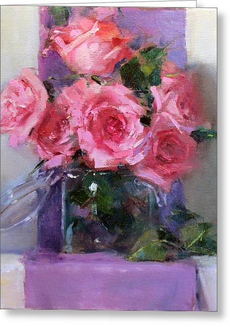 Pink Tease Greeting Card by Chris  Saper