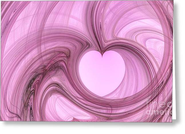 Pink Valentine Greeting Card by Isabella Shores