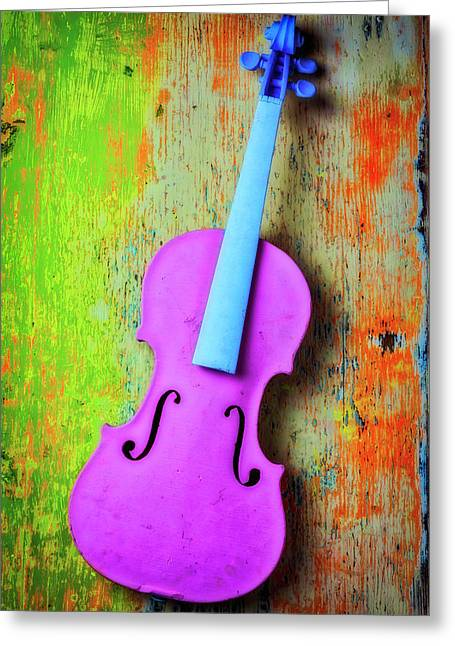 Pink Violin Greeting Card
