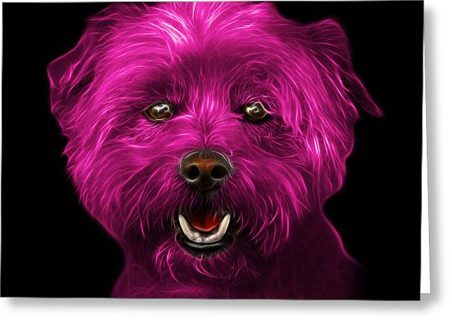 Pink West Highland Terrier Mix - 8674 - Bb Greeting Card