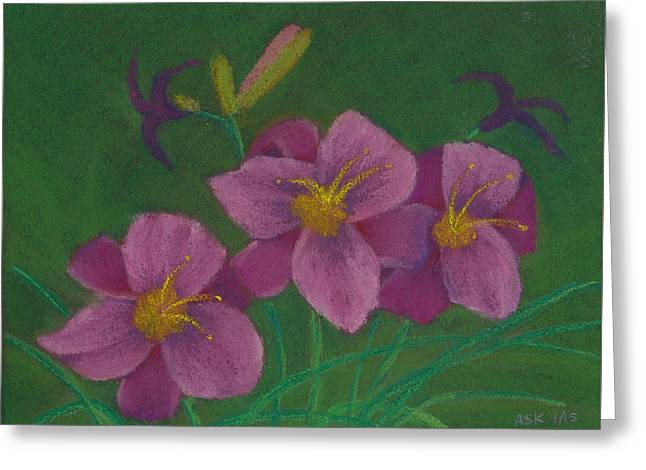 Pink Whispers Greeting Card