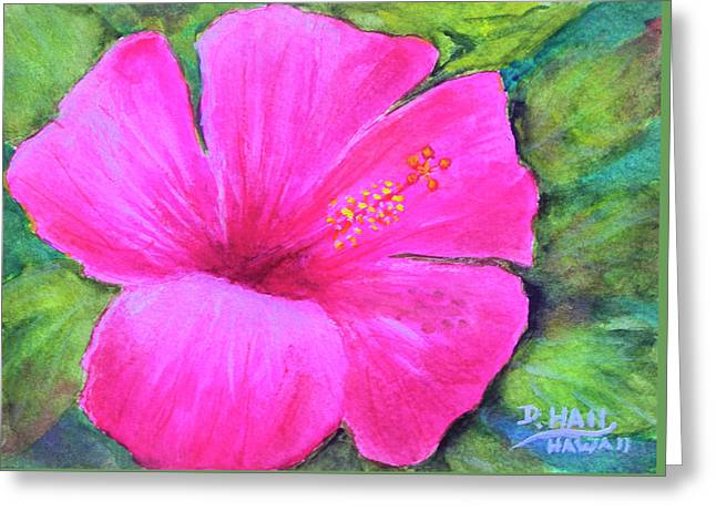 Pinkhawaii Hibiscus #505 Greeting Card by Donald k Hall