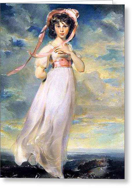 Pinkie Greeting Card by Thomas Lawrence