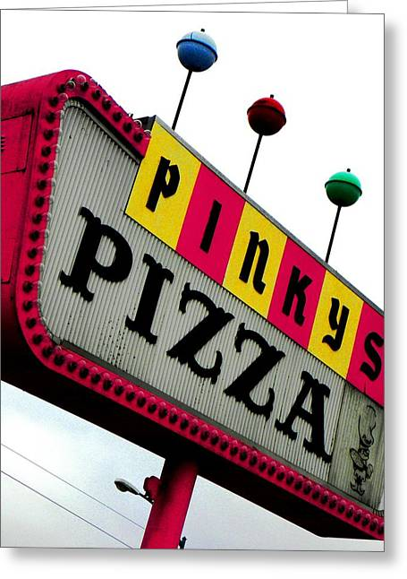 Pinky Is My Name And Pizza Is My Game Greeting Card