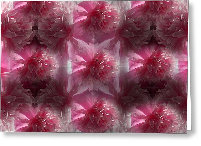 Pinky Peony Collage 1 Greeting Card
