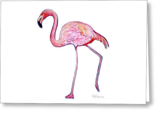 Pinky The Flamingo Greeting Card
