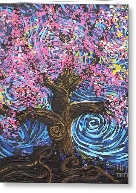 Pinky Tree Greeting Card