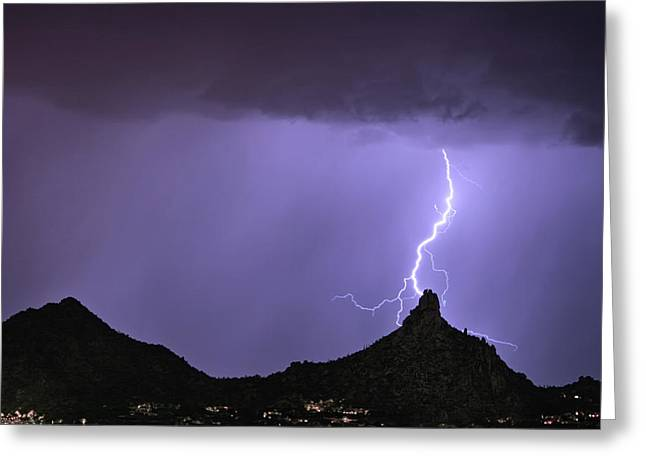 Pinnacle Peak Lightning Bolt Greeting Card by James BO Insogna