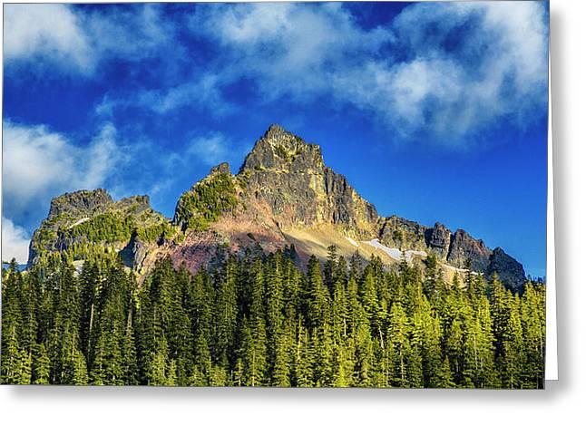 Pinnacle Peak Greeting Card by Stephen Stookey