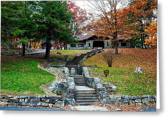Pinnacle Rock State Park In Autumn Greeting Card by Mountain Dreams