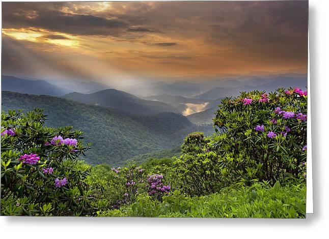 Pinnacle Sunset  Greeting Card