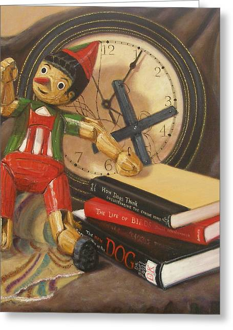 Greeting Card featuring the painting Pinocchio by Donelli  DiMaria