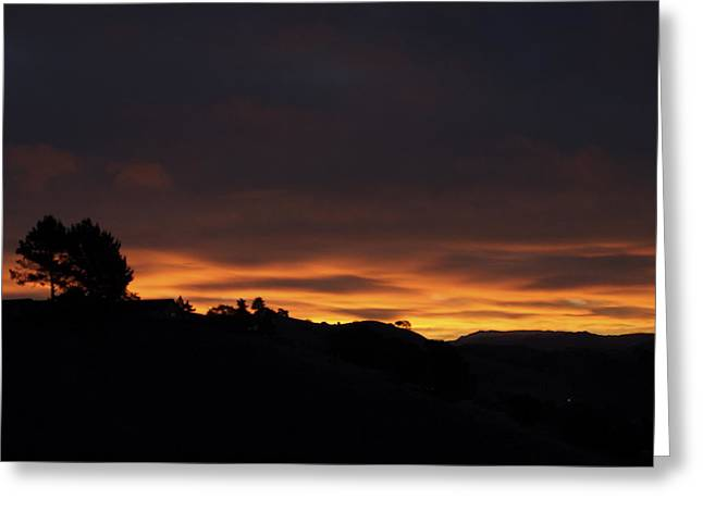 Pinole Valley At Dawn Greeting Card