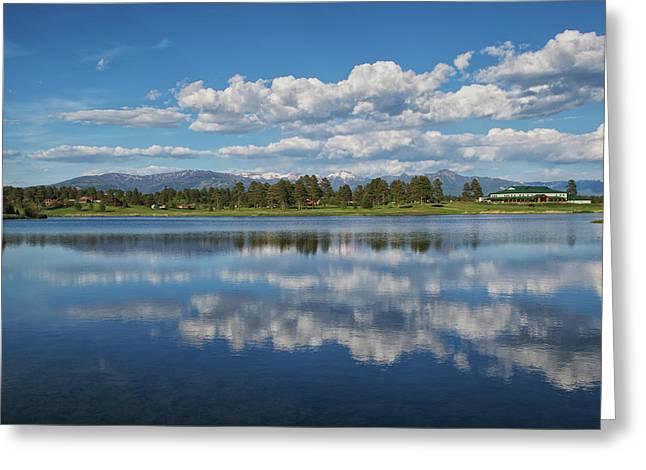Greeting Card featuring the photograph Pinon Lake Reflections by Jason Coward