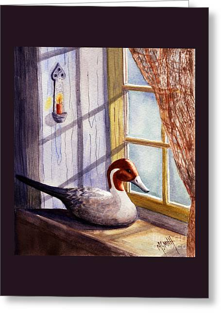 Pintail Decoy Greeting Card by Marilyn Smith