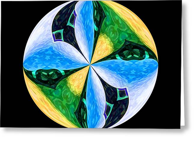 Pinwheel Greeting Card by Patric Carter