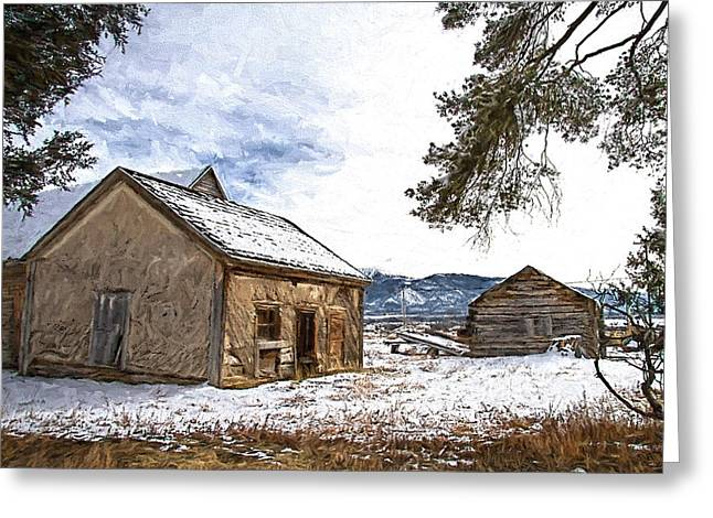 Pioneer Cabin Painterly Impression Greeting Card