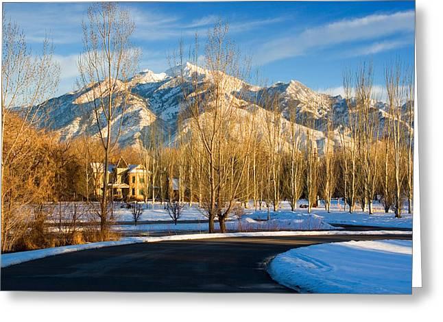Pioneer Era Farm House Greeting Card by Utah Images