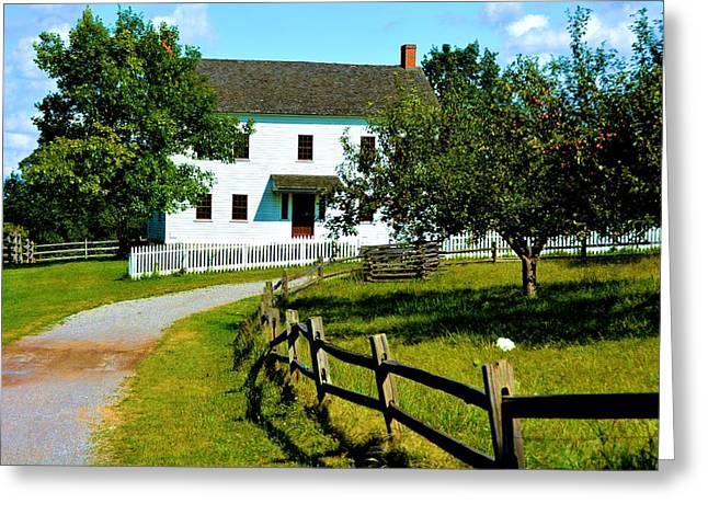 Pioneer Farm House Greeting Card by Richard Jenkins
