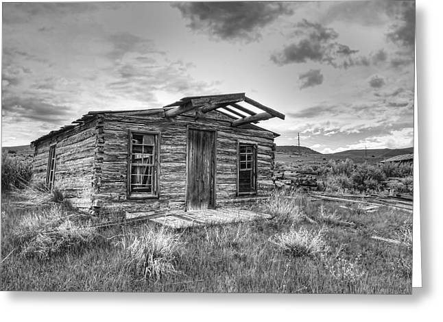 Pioneer Home - Nevada City Ghost Town Greeting Card by Daniel Hagerman