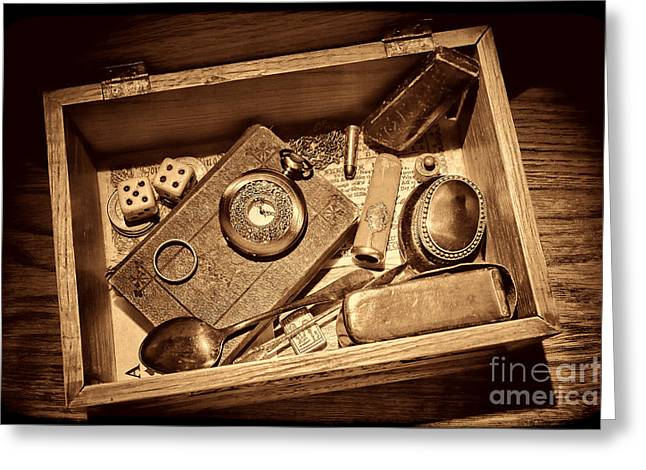 Pioneer Keepsake Box Greeting Card by American West Legend By Olivier Le Queinec