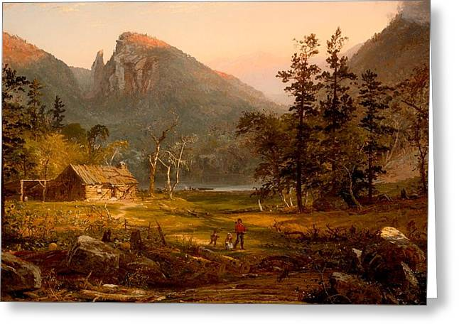 Pioneer's Home At Eagle Cliff - White Mountains Greeting Card by Mountain Dreams